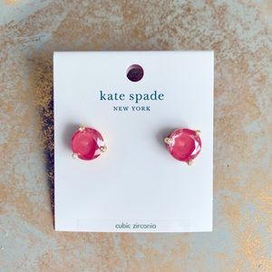 kate spade rise and shine stud coral earrings